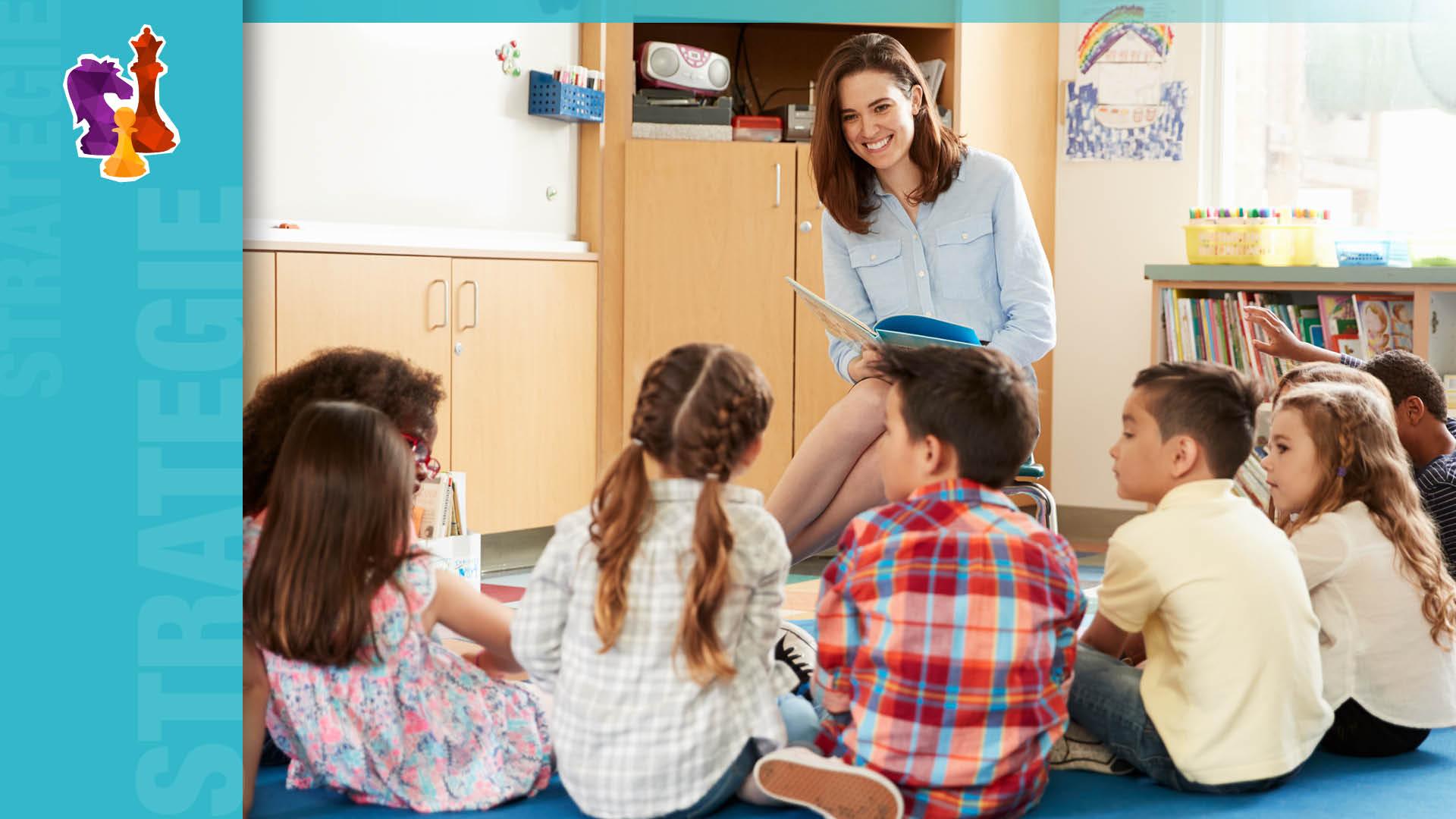 Maestra legge ai bambini
