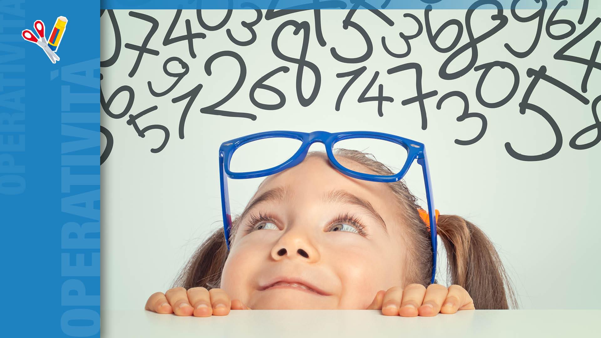 bambina che cerca i numeri